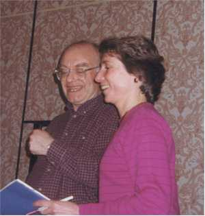Rutter and Heidrich share a laugh