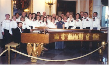 Master Chorale around the famous White House Steinway