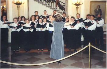 Master Chorale singing in the White House Grand Foyer