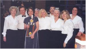 Members of the Chorale after winning Gospelfest 2001