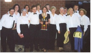 Members of the Chorale after winning Gospelfest 2002