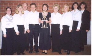 Members of the Chorale after winning Gospelfest 2003