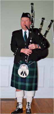 Bagpiper Chuck Connors