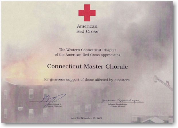 Red Cross Appreciation Certificate